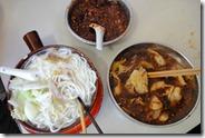 Soupe de nouilles ou de raviolis