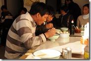 Petit déjeuner à Ning Lang : noodle soup et baozi