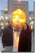Cours Azadi, entrée du sanctuaire