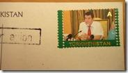 Ca c'est le prédécesseur, Turkmenmachin, sur tous les timbres