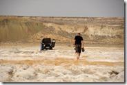 Sur la plage de la mer d'Aral