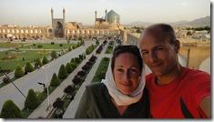Esfahan, place de l'Imam vue du palais d'Ali Qapu
