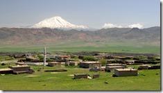 Campagne, sur fond d'Ararat