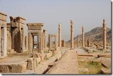 Persépolis édifiée sous le règne de Darius 1er le Grand vers 518 av. JC, vestiges de l'Empire achéménide (550-330 av. JC)
