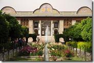 Shiraz, Bagh-e Naranjestan fondé au 19ème, salle de réception puis résidence du gouverneur sous les Qadjars