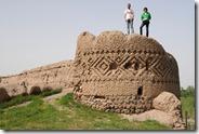 Meshgin Shahr, ancienne forteresse, avec Soheyl et son ami