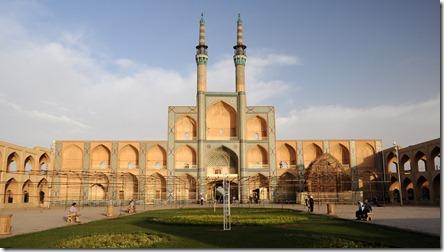 Yazd, ensemble Amir Chakhmaq, façade à trois étages