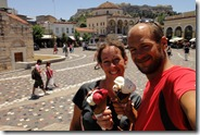 Glaces énormes à Monastiraki